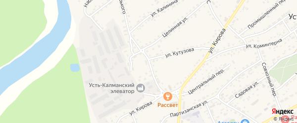 Улица Горького на карте села Усть-Калманки с номерами домов