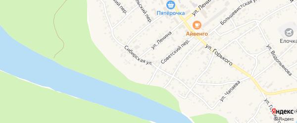 Сибирская улица на карте села Усть-Калманки с номерами домов