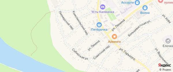 Улица Пушкина на карте села Усть-Калманки с номерами домов