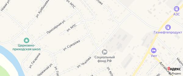 Улица МТС на карте села Усть-Калманки с номерами домов