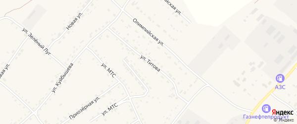 Улица Титова на карте села Усть-Калманки с номерами домов