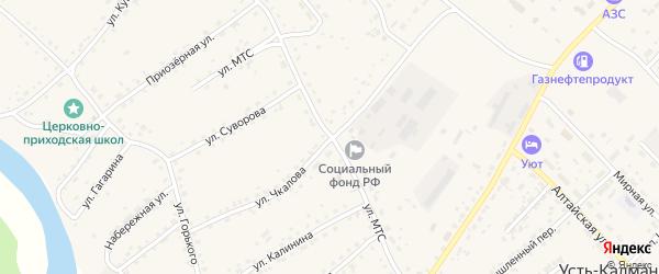 Улица Чкалова на карте села Усть-Калманки с номерами домов
