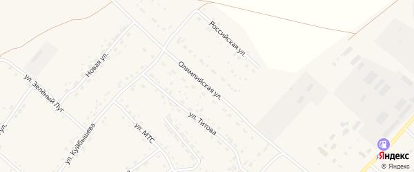 Олимпийская улица на карте села Усть-Калманки с номерами домов