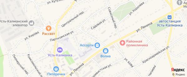 Пролетарский переулок на карте села Усть-Калманки с номерами домов