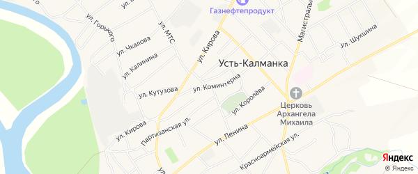 Карта села Усть-Калманки в Алтайском крае с улицами и номерами домов