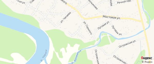 Овражная улица на карте села Усть-Калманки с номерами домов