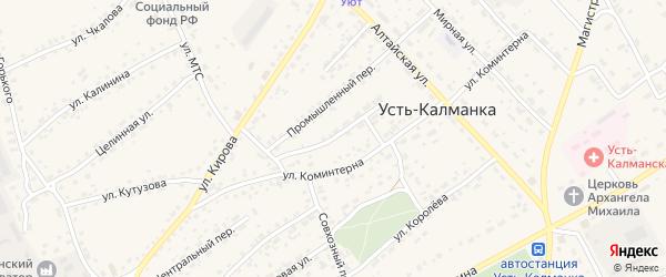Юбилейный переулок на карте села Усть-Калманки с номерами домов