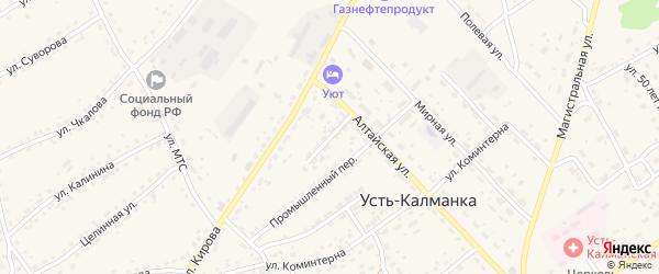 Алтайский переулок на карте села Усть-Калманки с номерами домов