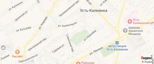 Новосельский переулок на карте села Усть-Калманки с номерами домов