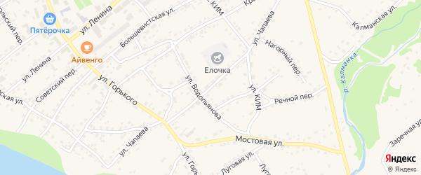 Улица Чапаева на карте села Усть-Калманки с номерами домов