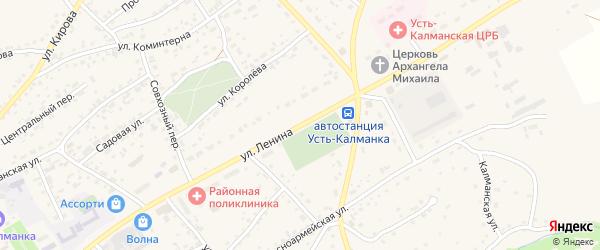 Улица Ленина на карте села Усть-Калманки с номерами домов