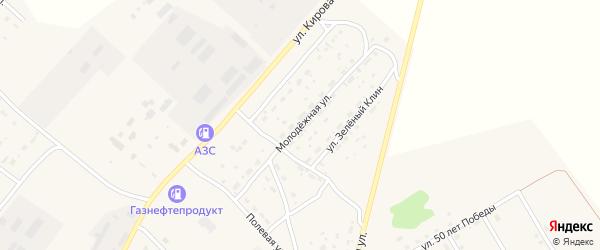 Молодежная улица на карте села Усть-Калманки с номерами домов