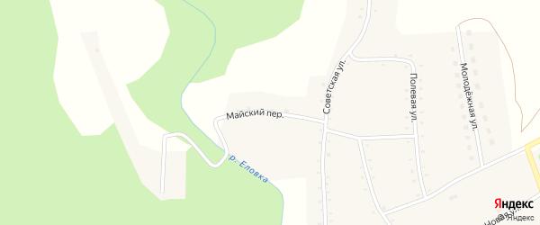 Майский переулок на карте села Курочкино с номерами домов