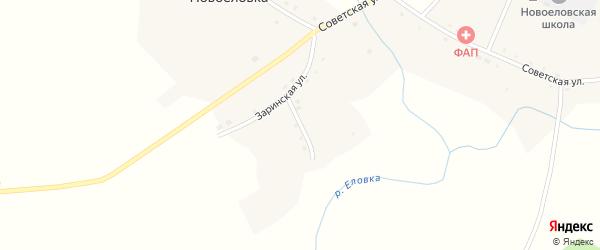 Почтовая улица на карте села Новоеловки с номерами домов