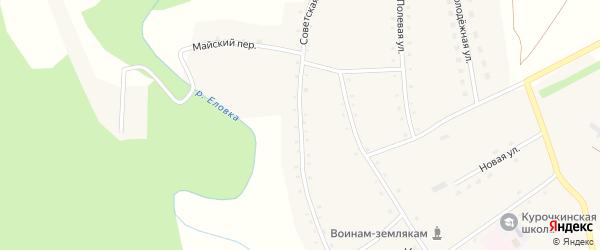 Советская улица на карте села Курочкино с номерами домов
