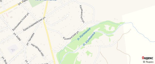 Калманская улица на карте села Усть-Калманки с номерами домов