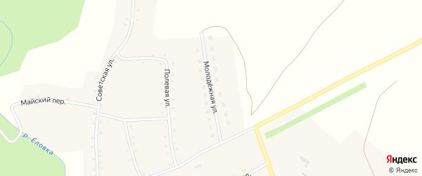 Молодежная улица на карте села Курочкино с номерами домов