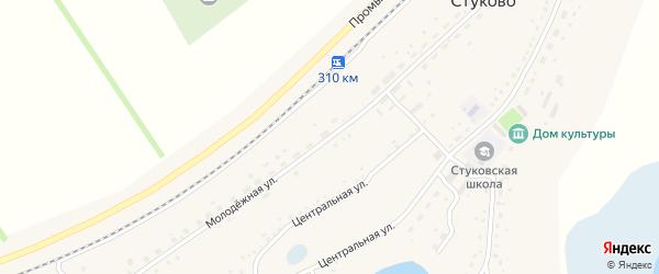 Молодежная улица на карте села Стуково с номерами домов