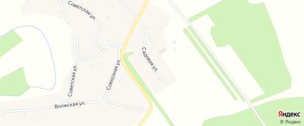 Садовая улица на карте села Курочкино с номерами домов