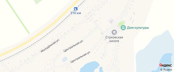 Центральная улица на карте территории сдт Зари с номерами домов