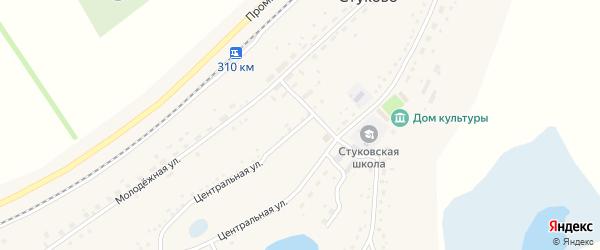Центральная улица на карте территории сдт Строителя с номерами домов