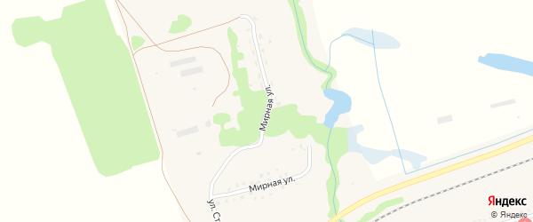 Мирная улица на карте села Стуково с номерами домов