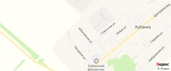 Юбилейная улица на карте поселка Кубанки с номерами домов