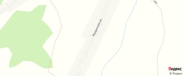 Рязанская улица на карте села Панфилово с номерами домов