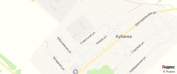 Советская улица на карте поселка Кубанки с номерами домов