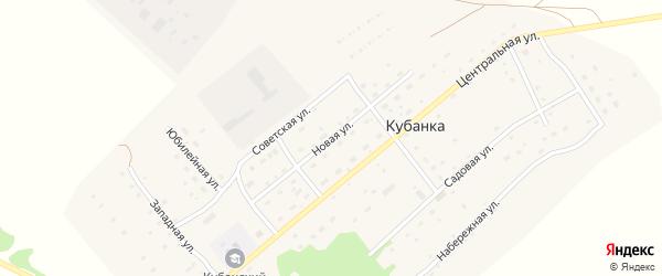Новая улица на карте поселка Кубанки с номерами домов