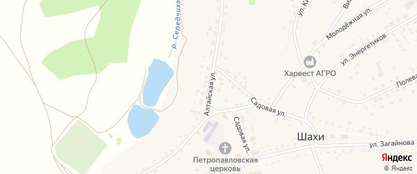 Алтайская улица на карте села Шахи с номерами домов