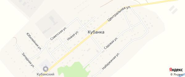 Молодежная улица на карте поселка Кубанки с номерами домов