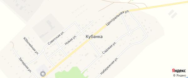 Школьная улица на карте поселка Кубанки с номерами домов