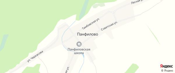 Карта села Панфилово в Алтайском крае с улицами и номерами домов