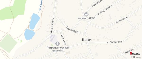 Садовая улица на карте села Шахи с номерами домов