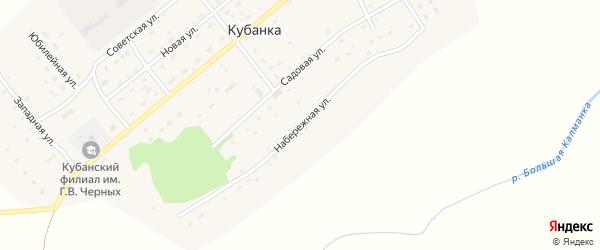 Набережная улица на карте поселка Кубанки с номерами домов