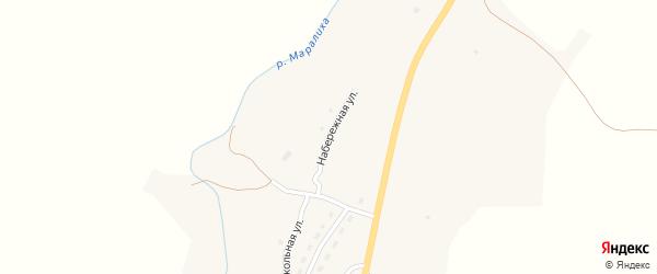 Набережная улица на карте села Маралихи с номерами домов