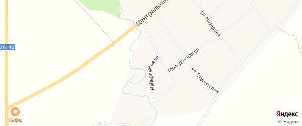 Набережная улица на карте села Новокалманки с номерами домов