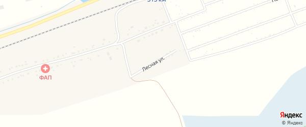 Лесная улица на карте территории сдт Железнодорожника с номерами домов