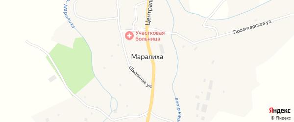 Строительный переулок на карте села Маралихи с номерами домов