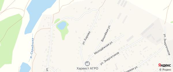 Улица Кирова на карте села Шахи с номерами домов