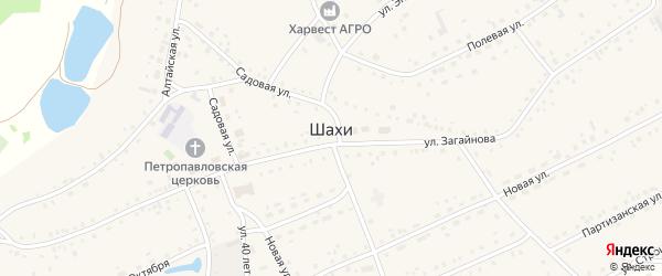 Улица Попова на карте села Шахи с номерами домов