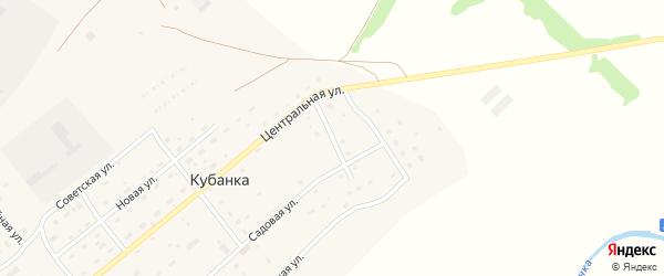 Восточная улица на карте поселка Кубанки с номерами домов