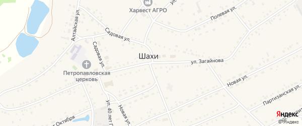 Улица Загайнова на карте села Шахи с номерами домов