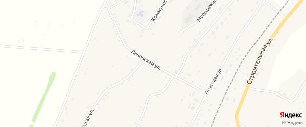 Ленинская улица на карте села Новороманово с номерами домов