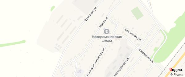 Новая улица на карте села Новороманово с номерами домов