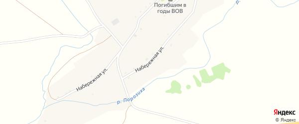 Набережная улица на карте села Романово с номерами домов