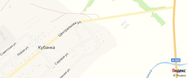Солнечная улица на карте поселка Кубанки с номерами домов
