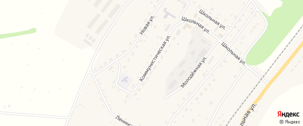 Коммунистическая улица на карте села Новороманово с номерами домов