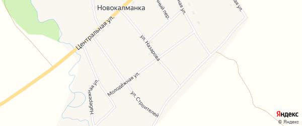Молодежная улица на карте села Новокалманки с номерами домов